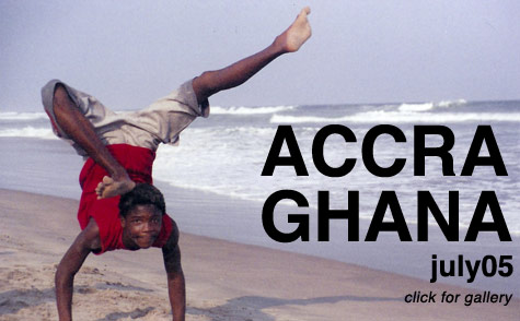 Acrobatic Kid on the beach in Accra, Ghana