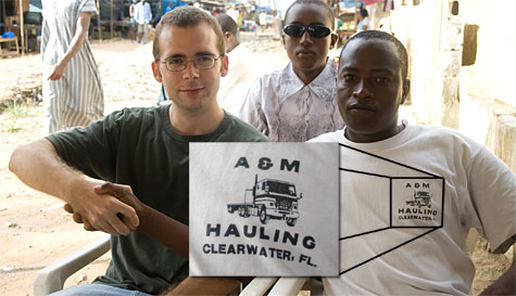 A&M Hauling Clearwater, FL on a t-shirt in Abidjan, Cote d'Ivoire