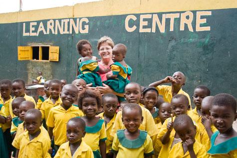 Kathy Van Bibber at Nalerigu, Ghana's Happy Child Learning Center