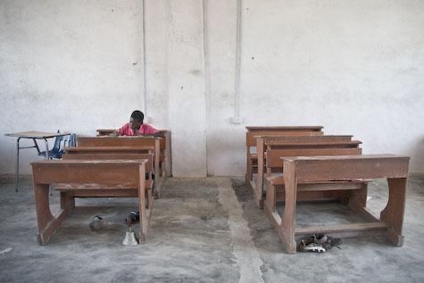 Boy at Sankor Baptist School in Winneba, Ghana