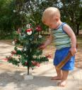 Trey and our Christmas Tree