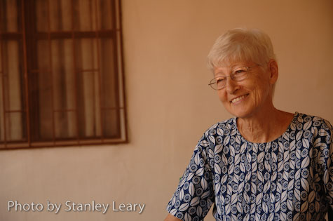 Elsie McCall at the Baptist Mission in Ouagadougou, Burkina Faso