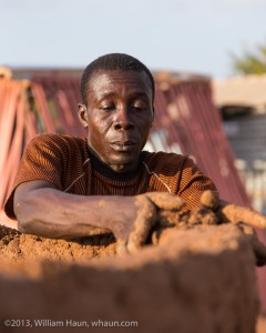 A home builder in northern Ghana