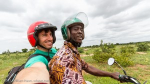 Riding a moto to the interior villages of the Northern and East Dagomba regions